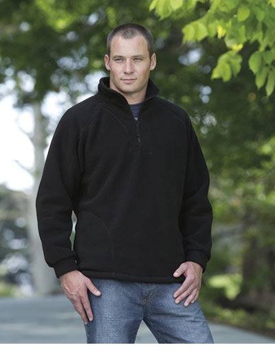 DET Detailed Polar Fleece Pullover