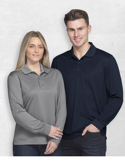 DGLAXP Dri Gear Long Sleeve Axis Polo