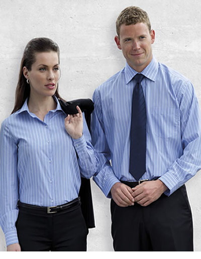 WES The Euro Corporate Stripe Shirt - Womens